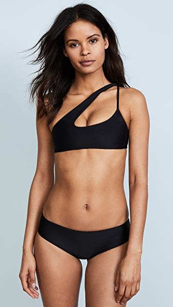 MIKOH Queensland Cross Shoulder Bikini Top
