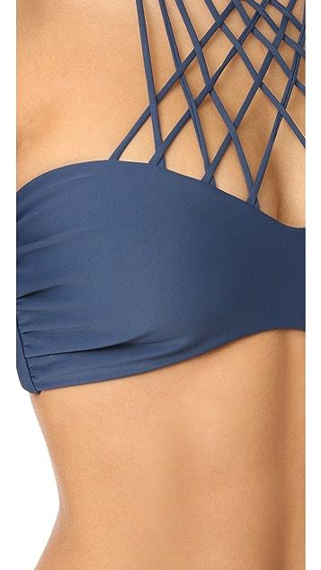 MIKOH Kahala Crisscross Bikini Top