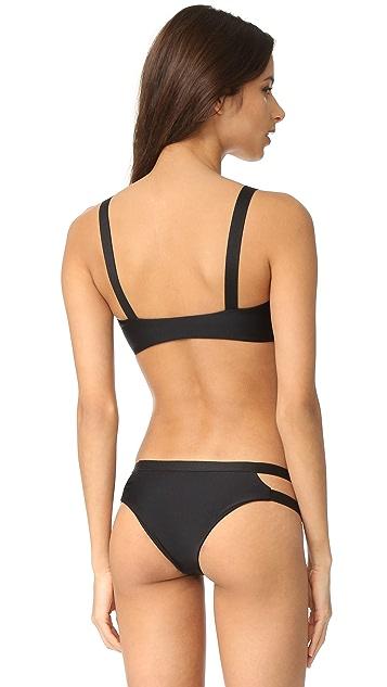 MIKOH Niihau Cutout Panel Bikini Top