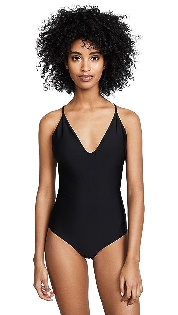 MIKOH Las Palmas Cross Back Swimsuit