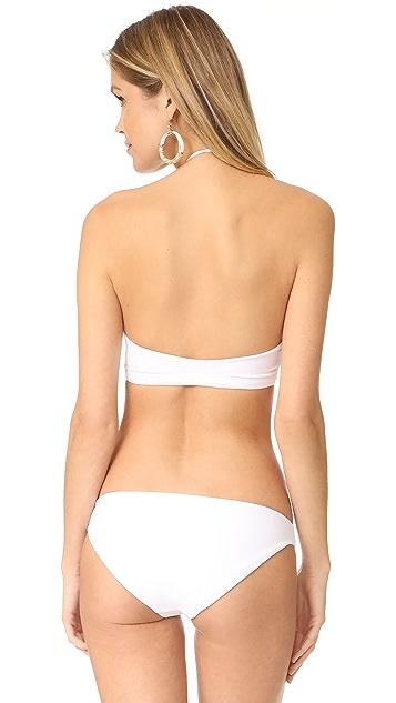 MIKOH Tahaa High Neck Halter Bikini Top