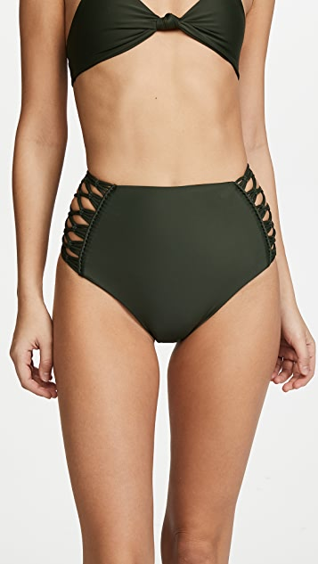 MIKOH Gold Coast High Waisted Bottoms