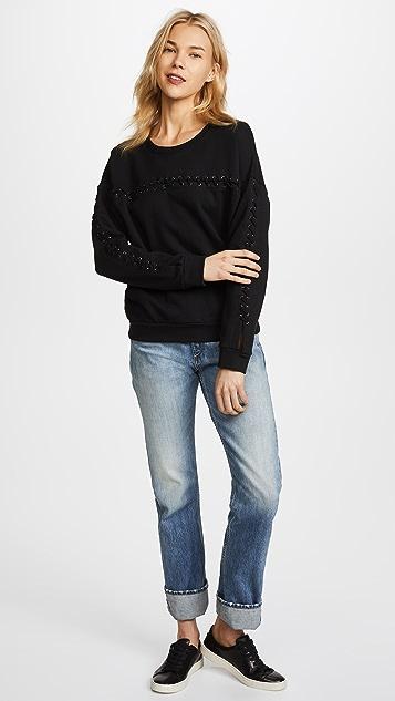 MIKOH Kilohana Lace Up Sweatshirt