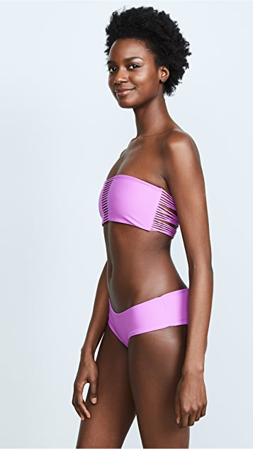 MIKOH Sunset String Bandeau Bikini Top