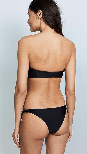 MIKOH Carmel Knot Bandeau Bikini Top