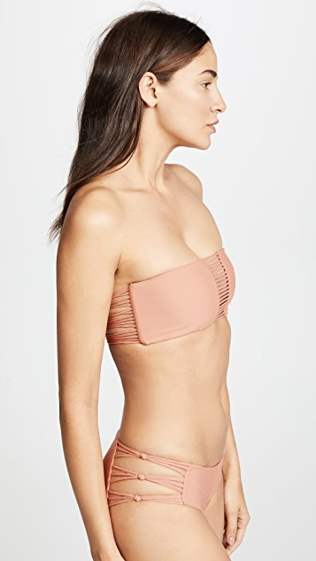 MIKOH Sunset Looped Bandeau Top