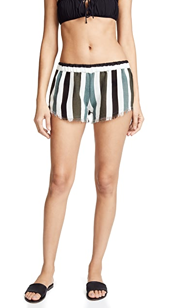 MIKOH Frayed Detail Shorts