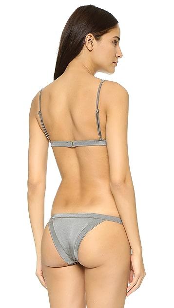 Milly Italian Solid Capri Triangle Bikini Top