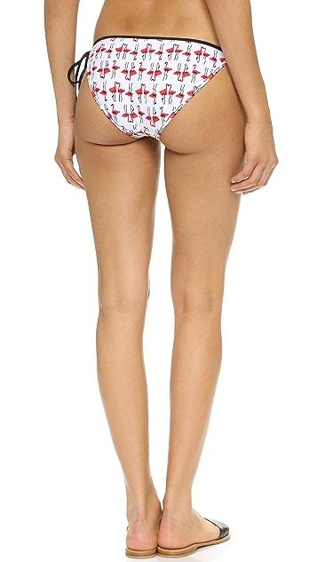 Milly Flamingo Biarritz String Bikini Bottoms