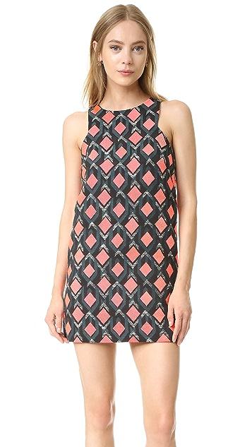 Milly Diamond Jacquard Mini Dress
