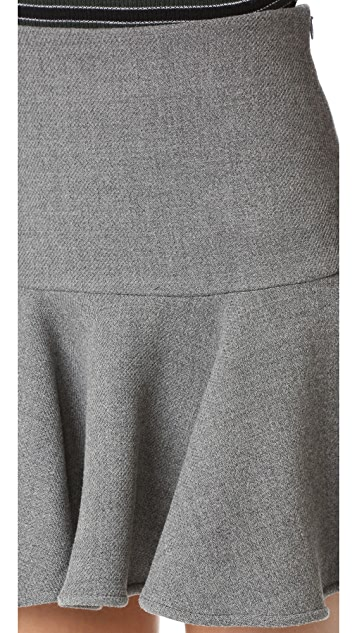 Milly Wool Flounce Skirt