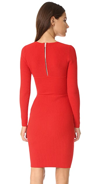 Milly Angled Ottoman Sheath Dress