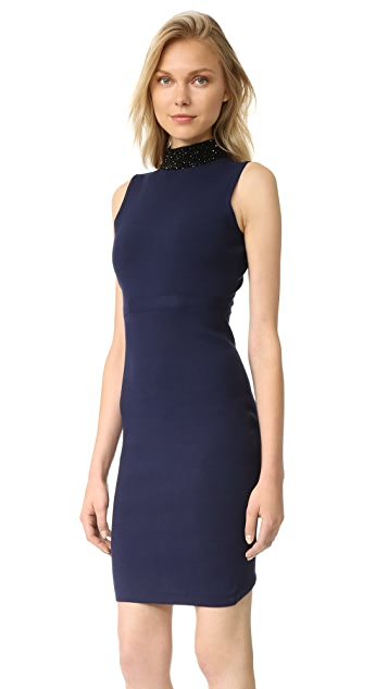 Milly Beaded Collar Sheath Dress