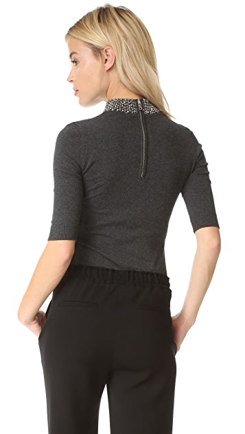 Milly Beaded Collar Pullover
