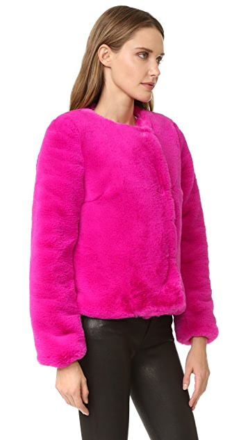 Milly Faux Fur Jacket