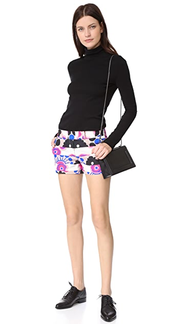 Milly Modern Print Slouch Shorts