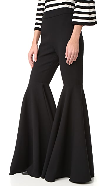 Milly Double Weave Flare Pants