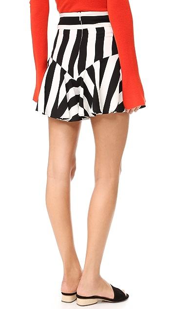 Milly Stripe Print Flutter Shorts