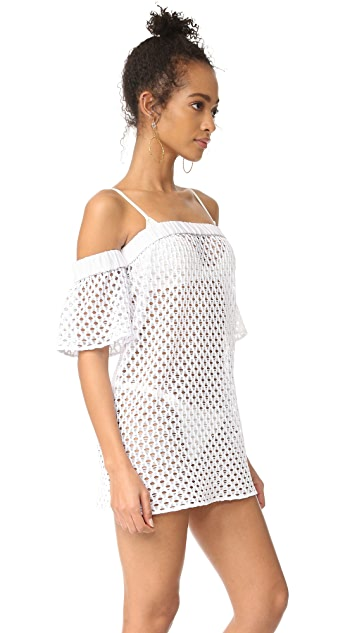 Milly Netting Flutter Sleeve Cover Up