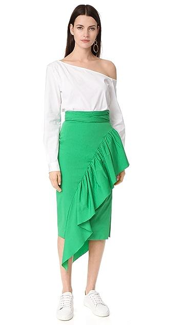 Milly Cascade Tie Skirt