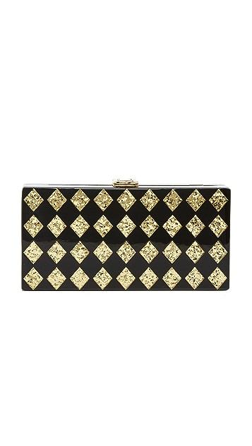 Milly Diamond Box Clutch