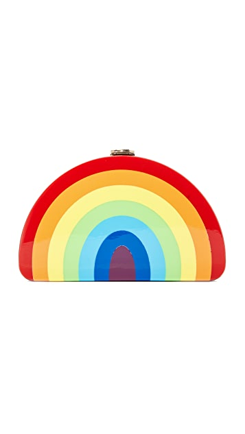 Milly Rainbow Half Moon Clutch