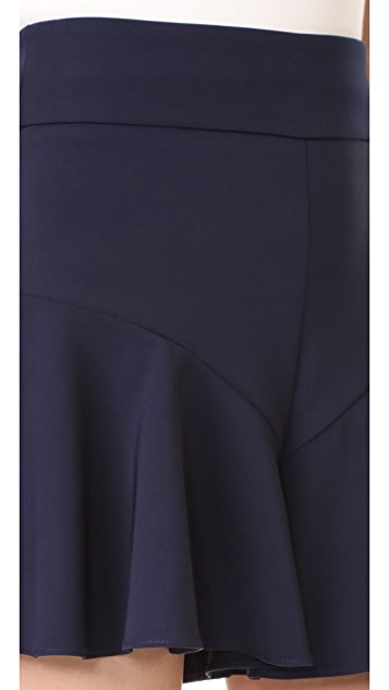 Milly Italian Cady Flutter Culotte Shorts