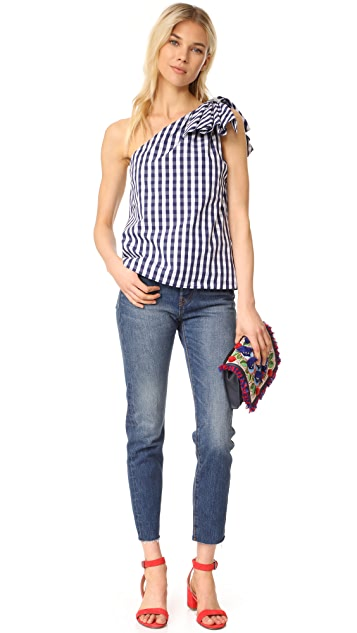 Milly Gingham Shirting Cindy Top