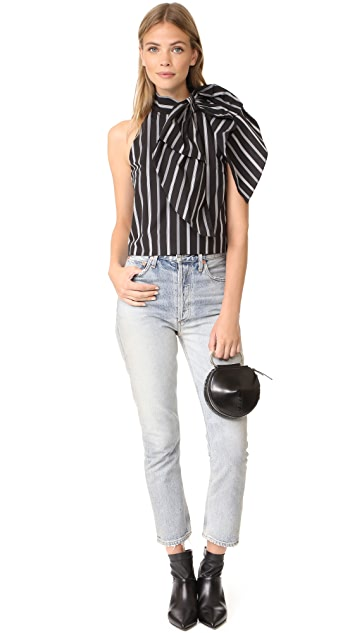 Milly Stripe Shirting Sasha Top