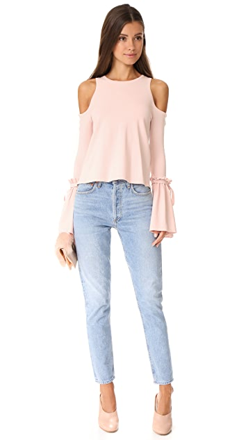 Milly Cold Shoulder Tie Top
