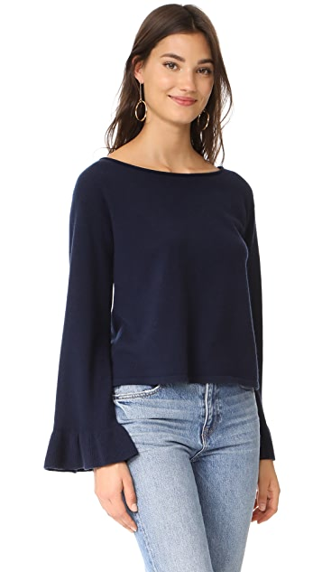 Milly Cashmere Flare Sleeve Sweater