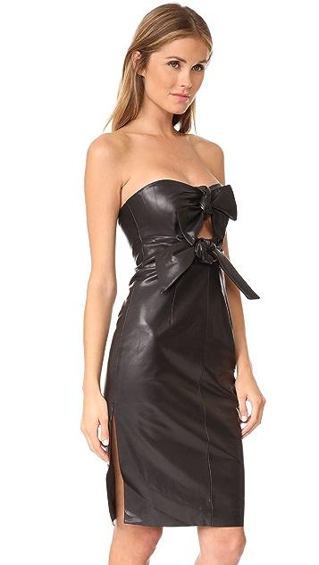 Milly Leather Mackenzie Dress