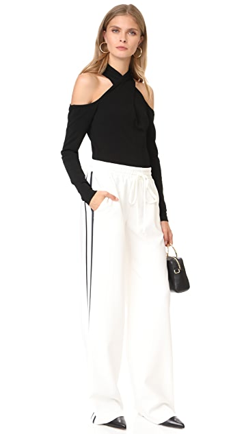 Milly Wrap Keyhole Neck Top