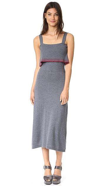 Milly Metallic Tipping Flounce Dress