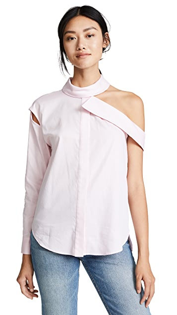Milly Herringbone Vicky Blouse