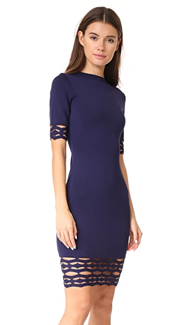 Milly Cutout Fitted Sheath Dress
