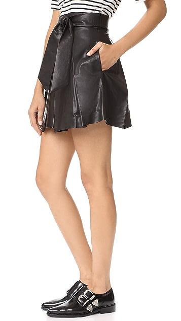 Milly Leather Agata Miniskirt
