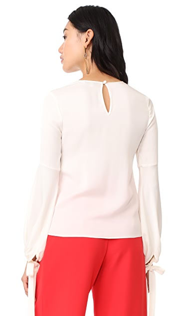 Milly Stretch Silk Juliette Blouse