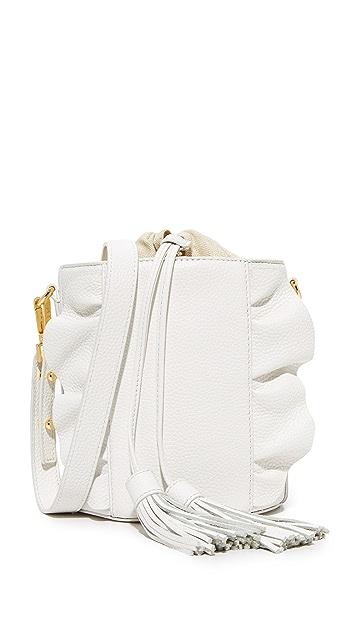 Milly Astor Ruffle Drawstring Bucket Bag