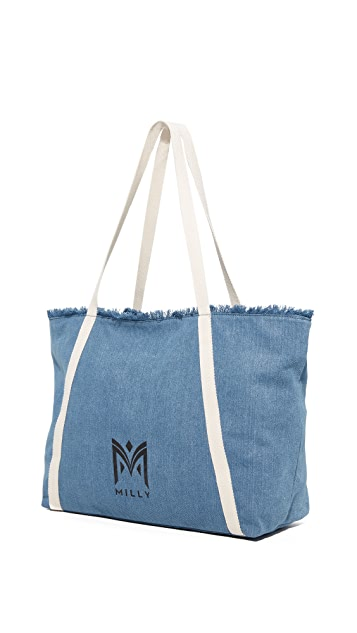 Milly Denim Tote