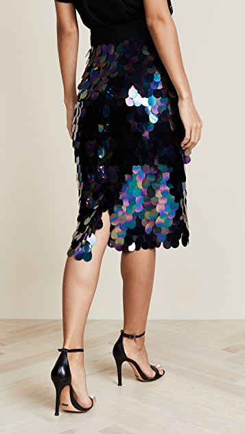 Milly Paillette Sequin Midi Skirt