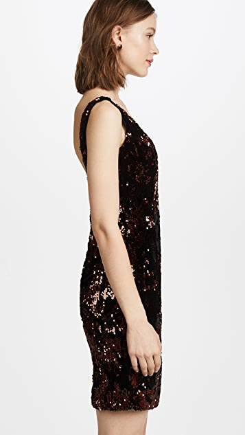 Milly Sequined Velvet Cora Mini Dress