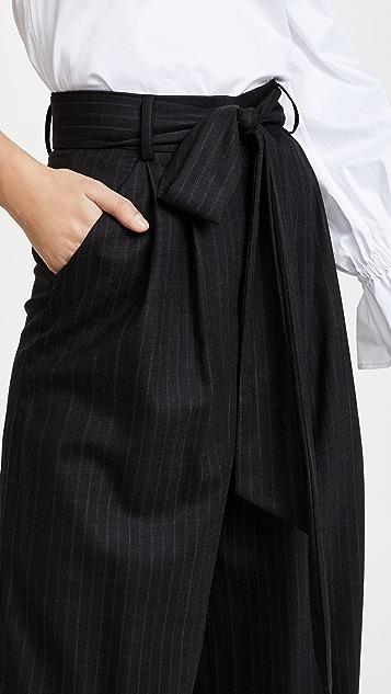 Milly Italian Pinstripe Natalie Pants