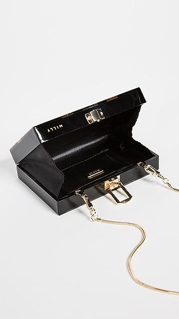 Milly Metallic Box Clutch