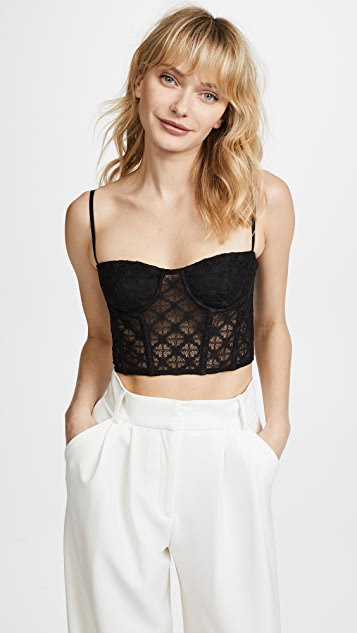 Milly Lace Karissa Bustier Top