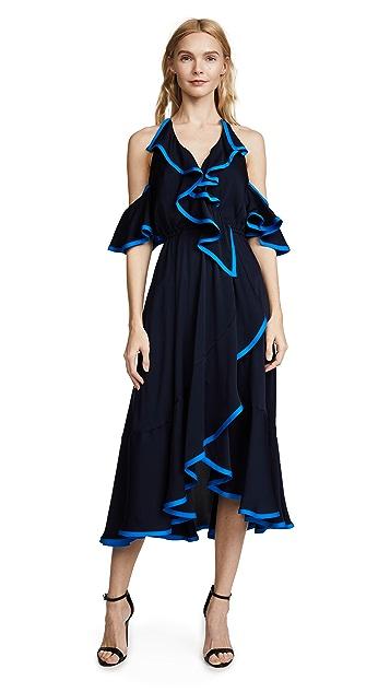 Milly Stretch Silk Bryce Binding Dress