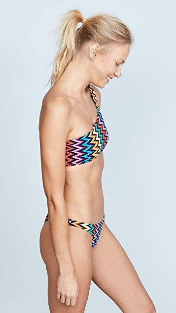 0ccb2ca8f05 Milly Chevron One Shoulder Bikini Top | SHOPBOP