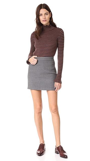 Milly Double Face Modern Miniskirt