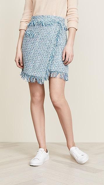 Milly Tweed Mini Skirt - Blue