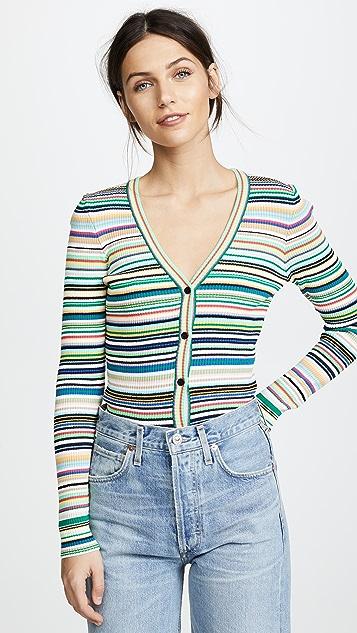 Milly Stripe Button Cardigan